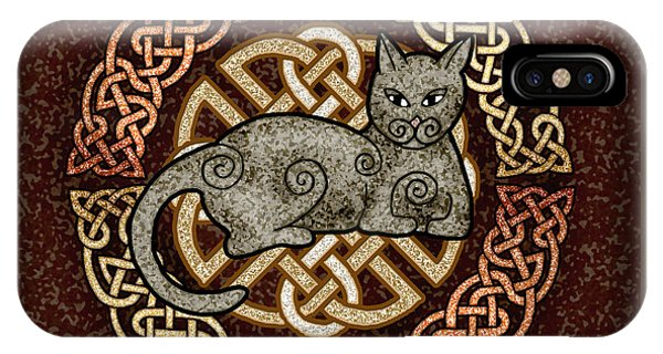 Celtic Cat IPhone Case