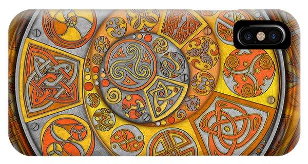 Celtic Crescents IPhone Case