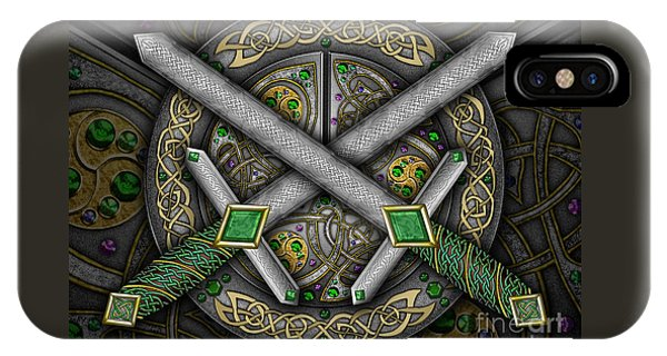 Celtic Daggers IPhone Case