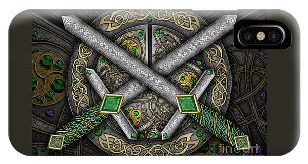 Celtic Daggers IPhone Case