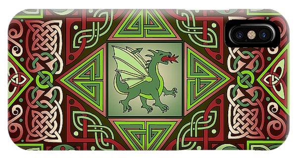Celtic Dragon Labyrinth IPhone Case