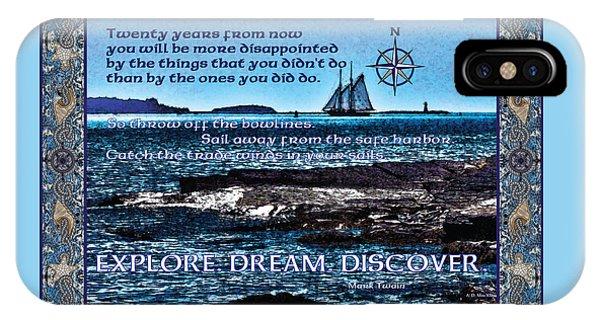 Celtic Explorer - Bluenose II In Halifax Harbour IPhone Case