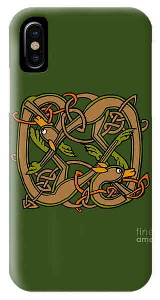 Celtic Hounds Knot IPhone Case