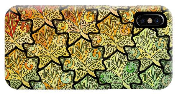 Celtic Leaf Transformation IPhone Case