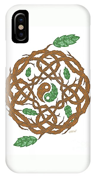 Celtic Nature Yin Yang IPhone Case
