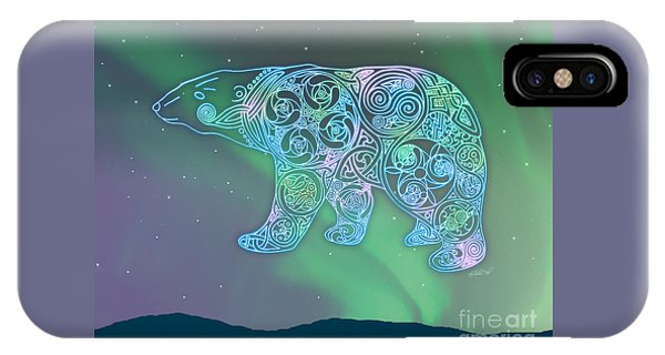 Celtic Polar Bear IPhone Case