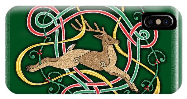 Celtic Reindeer Knots IPhone Case
