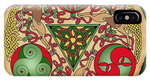 Celtic Reindeer Shield IPhone Case