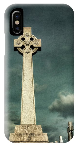 Cemetery iPhone Case - Celtic Sanctuary by Evelina Kremsdorf