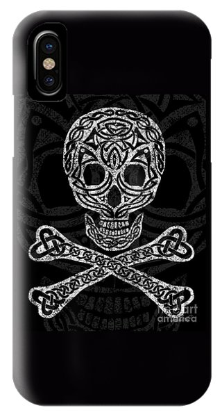 Celtic Skull And Crossbones IPhone Case