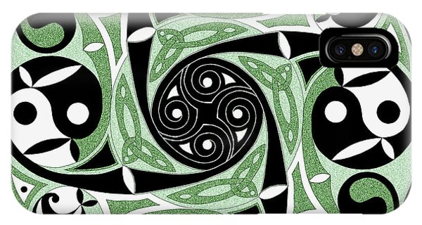 Celtic Spiral Stepping Stone IPhone Case