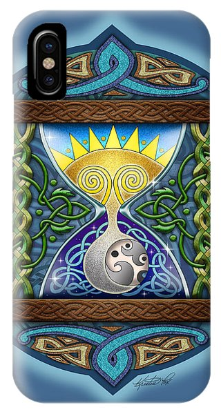 Celtic Sun Moon Hourglass IPhone Case