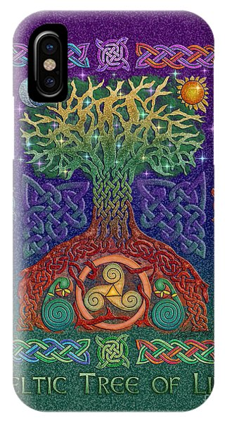 Moon iPhone Case - Celtic Tree Of Life by Kristen Fox