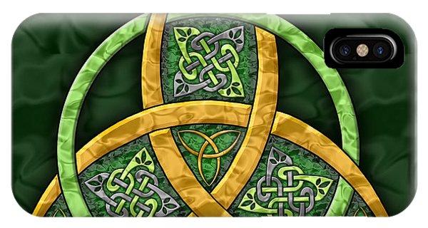 Irish iPhone Case - Celtic Trinity Knot by Kristen Fox