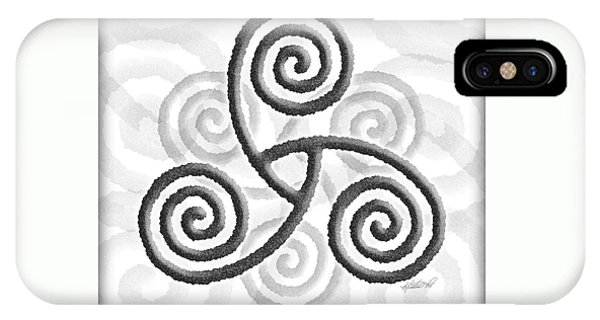 Celtic Triple Spiral IPhone Case