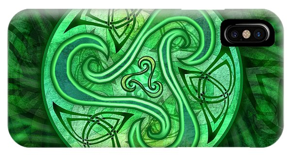 Celtic Triskele IPhone Case