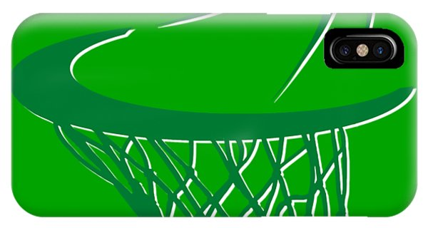 Celtics iPhone Case - Celtics Basketball Hoop by Joe Hamilton