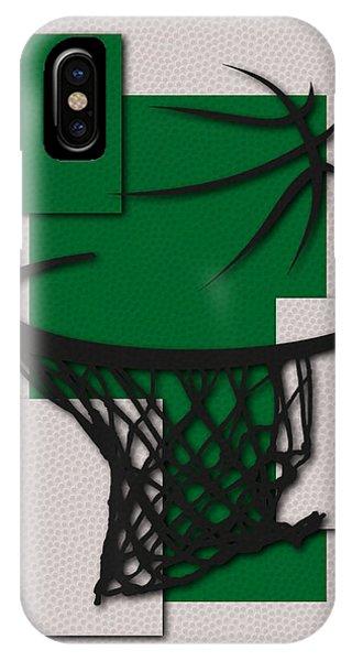 Celtics iPhone Case - Celtics Hoop by Joe Hamilton