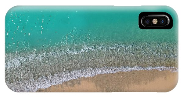 IPhone Case featuring the photograph Cemetery Beach Aerial Panoramic by Adam Romanowicz