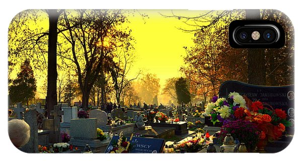 Cemetery In Feast Of The Dead IPhone Case