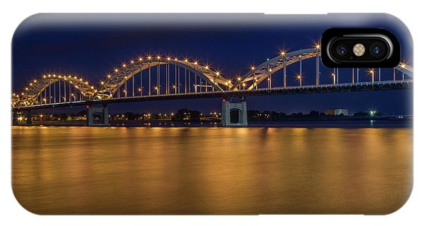 Centennial Bridge iPhone Case - Centennial Bridge At Dusk by Tom Weisbrook