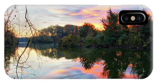IPhone Case featuring the photograph Centennial Lake At Sunrise by Mark Dodd