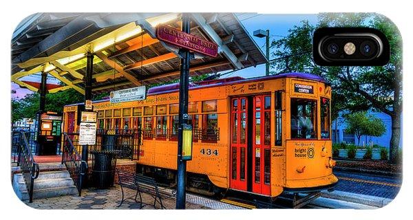 Trolley Car iPhone Case - Centennial Park Satation by Marvin Spates