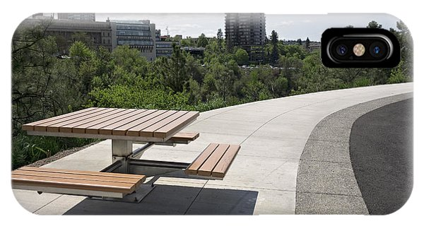 Centennial Bridge iPhone Case - Centennial Trail At Kendall Yards - Spokane by Daniel Hagerman