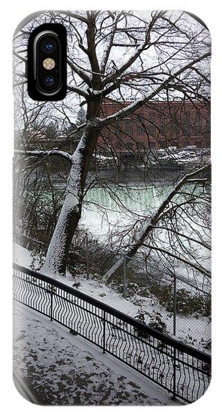 Centennial Bridge iPhone Case - Centennial Trail At Spokane Falls by Daniel Hagerman