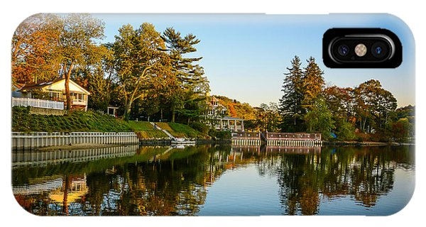 Centerport Harbor Autumn Colors IPhone Case