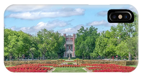 Oklahoma University iPhone Case - Central Grounds And Gardens At University Of Oklahoma by Ken Wolter