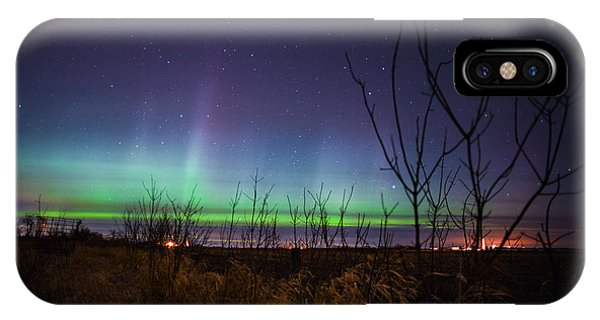 Central Minnesota Aurora IPhone Case