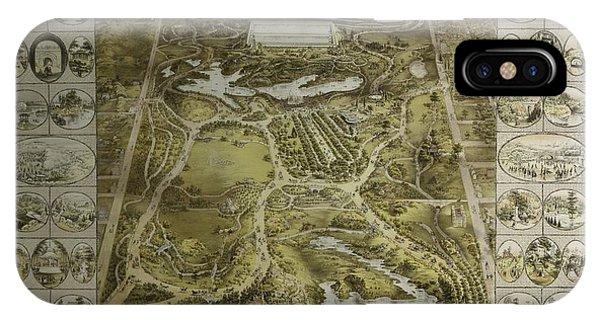 Central Park 1863 IPhone Case
