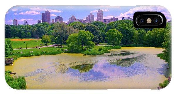 Central Park And Lake, Manhattan Ny IPhone Case