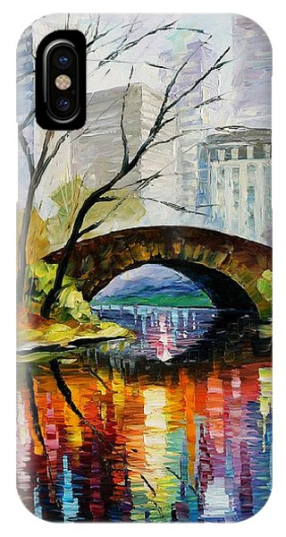 iPhone Case - Central Park by Leonid Afremov