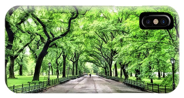 New York City Central Park Mall IPhone Case