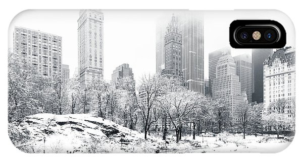 Winter iPhone Case - Central Park by Mihai Andritoiu