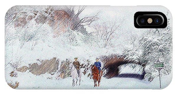 Central Park Snow IPhone Case