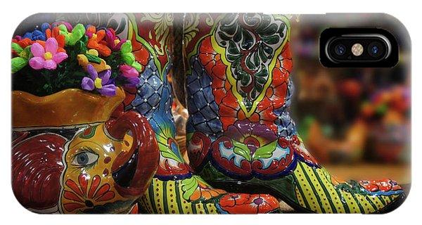 Art And Craft iPhone Case -  Ceramic Boot by Art Spectrum