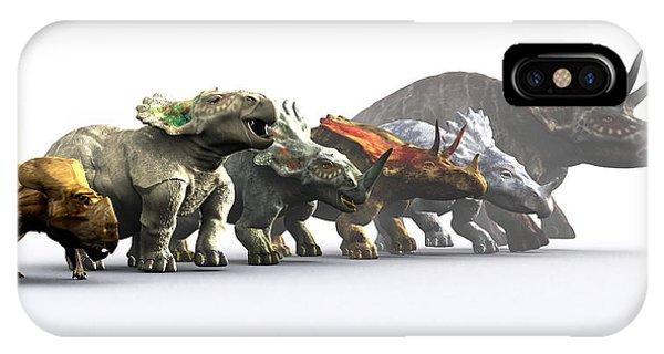 Ceratopsian Dinosaurs Phone Case by Christian Darkin