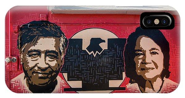 Cesar Chavez And Dolores Huerta Mural - Utah IPhone Case