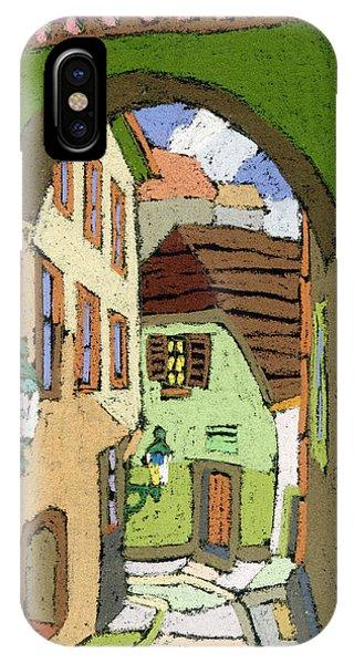 Pastel iPhone Case - Cesky Krumlov Masna Street by Yuriy Shevchuk