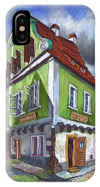 Pastel iPhone Case - Cesky Krumlov Old Street 3 by Yuriy Shevchuk