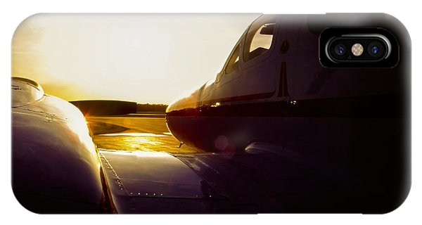 Cessna 421c Golden Eagle IIi Silhouette IPhone Case