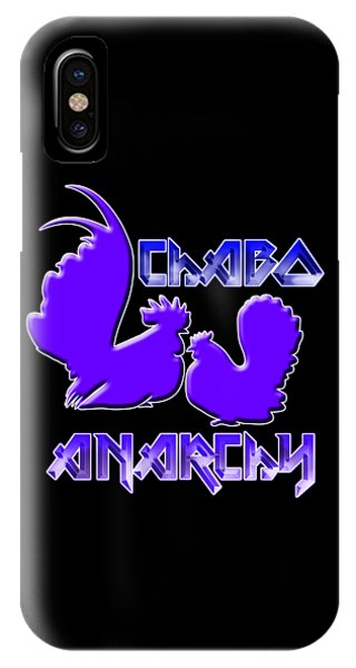 iPhone Case - Chabo Anarchy Bluepurple by Sigrid Van Dort