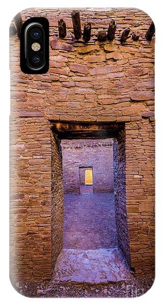 Chaco Canyon - Pueblo Bonito Doorways - New Mexico IPhone Case