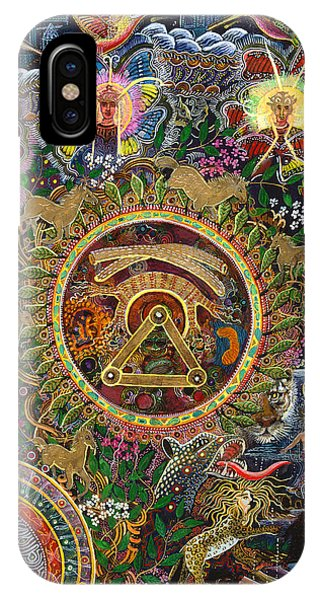 IPhone Case featuring the painting Chacruna Versucum 2007 Version  by Pablo Amaringo