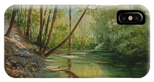 Chagrin River In Spring IPhone Case