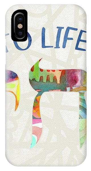 Bar Mitzvah iPhone Case - Chai To Life- Art By Linda Woods by Linda Woods