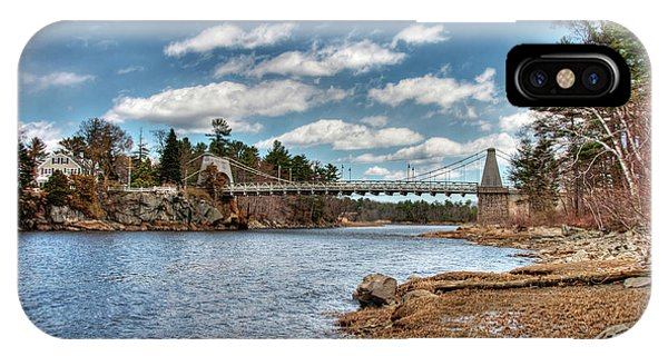 Chain Bridge On The Merrimack IPhone Case